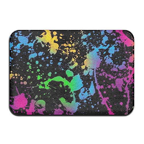 Titan's Mother Splatter Paint Non-Slip Entrance Indoor Outdoor Front Door Bathroom Mats Bathroom Kitchen Decor Rug Mat Door Mat 23.6x15.7 Inch by Titan's Mother