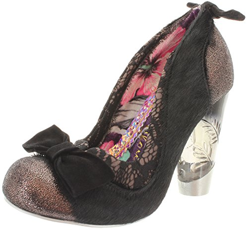 Irregular Choice - Zapatos de vestir de piel, sintético para mujer Negro - negro