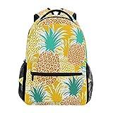 Pineapple Laptop Backpack, Large Cute School Bookbag Lightweight Waterproof Travel Hiking Shoulder Bag Durable Computer Bag Casual Daypack for Women Men Girls Boys