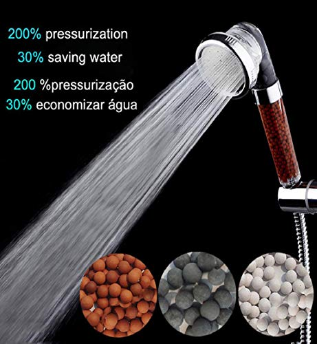 Clearance Sale!DEESEE(TM)Bath Shower Head High Pressure Boosting Water Saving Filter Balls Beads Utility
