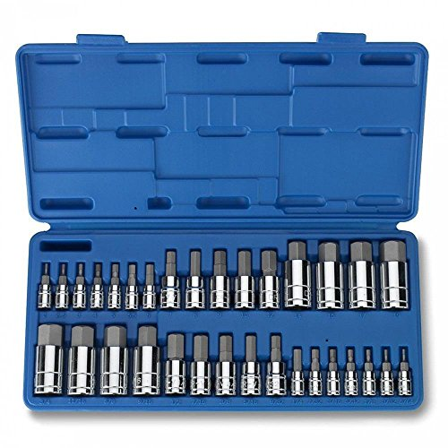 Socket Wrenches 32pc Master Hex Bit Socket Set SAE & METRIC Automotive Shop Tools Must Have - Egypt Shop Brand