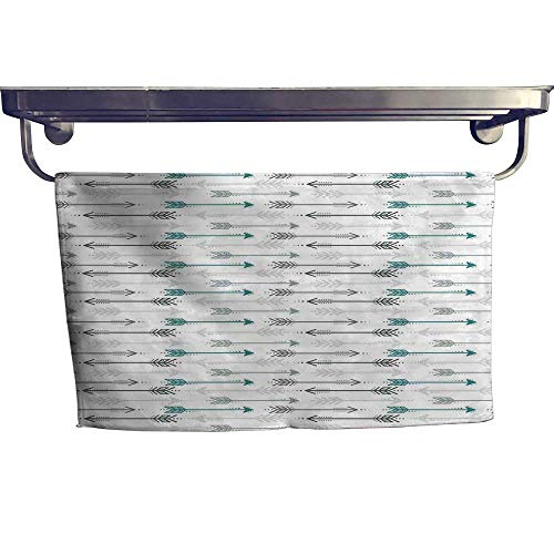 opular Bath Towel Set Retro Arrow Pattern in Horizontal Line Heading to Opposite Directions Artwork Fun Hand Towels Set W 10