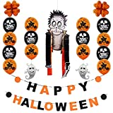 Home Decor,Home Decorations for Living Room Happy Halloween Party Flag Household Children Room Decoration Terror Supplies