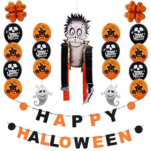 YJYdada Happy Halloween Party Flag Household Children Room Decoration Terror Supplies -