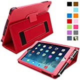 iPad Mini 1 and Mini 2 Case, Snugg Executive Red Leather Smart Case Cover [Lifetime Guarantee] Apple iPad Mini 1 and Mini 2 Protective Flip Stand Cover With Auto Wake/Sleep