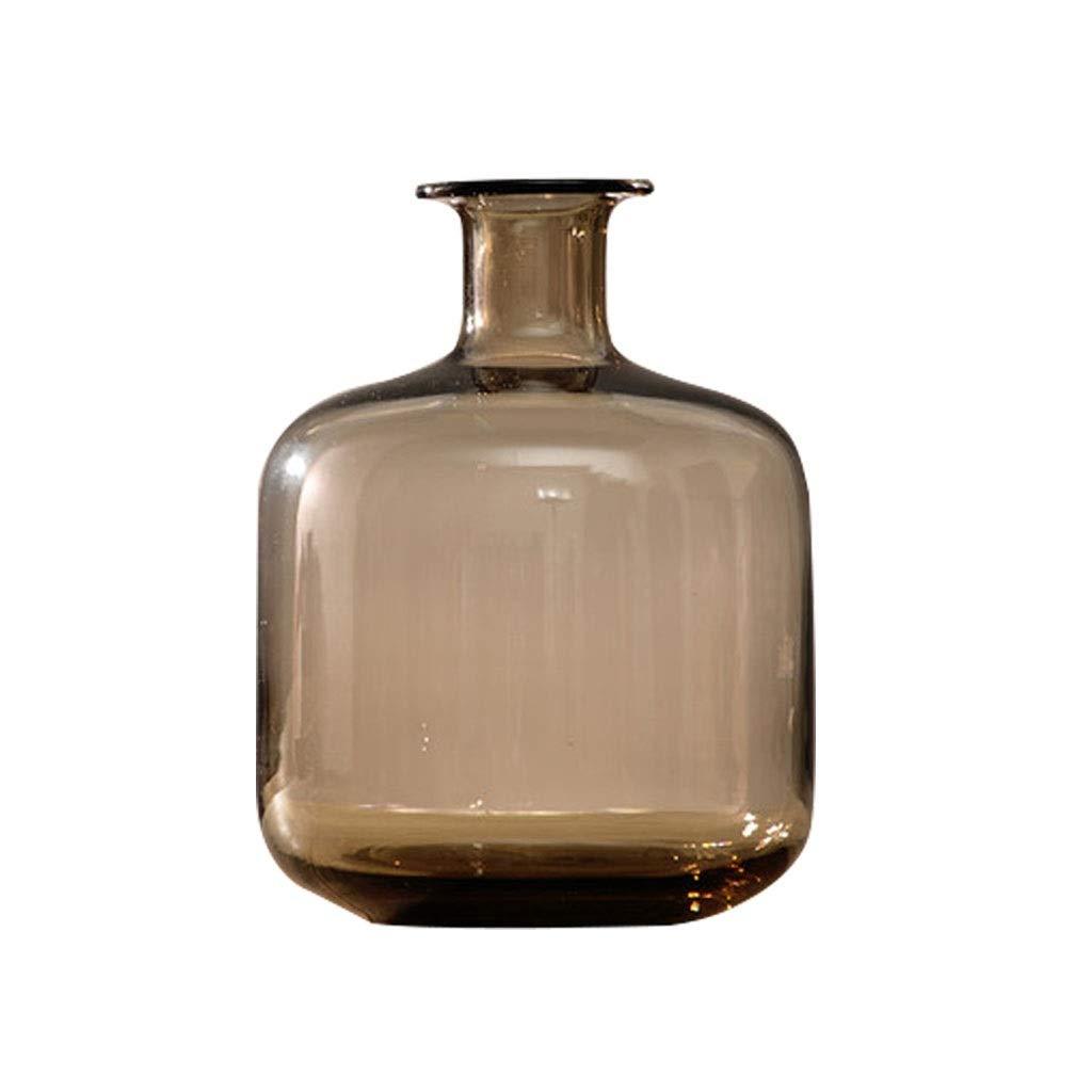 ヨーロッパ透明ガラス花瓶花花リビングルームダイニングテーブルホームデコレーション装飾品 LQX B07R28FP99