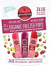 Goodpop Organic Freezer Pops No Sugar Added Variety 24 Count - 1.79 oz pops