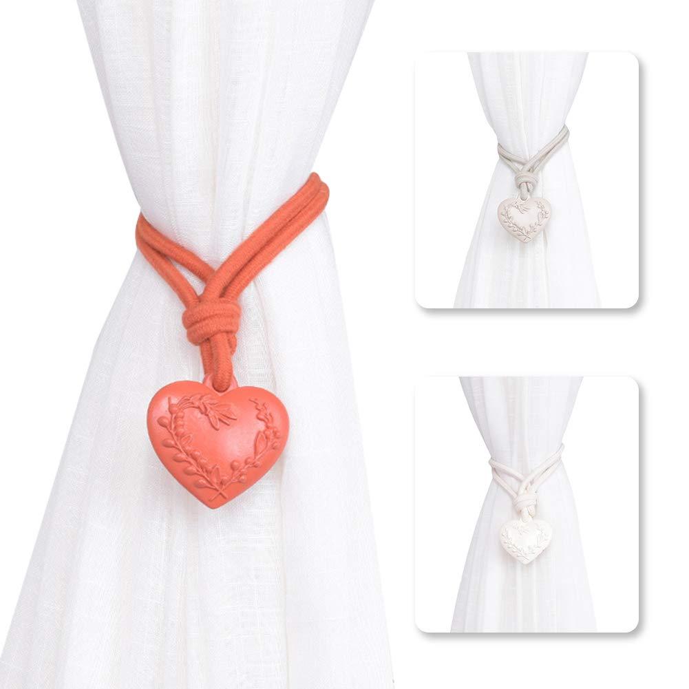 Beige Taille Unique Lsgepavilion Embrasse de Rideau en Forme de c/œur pour d/écoration de Chambre