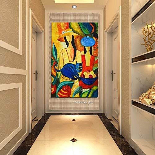 SPLLEADER Picasso Famoso Superventas Moderno Puro Pintado a Mano Lienzo Pintura Cuadros de Pared for decoracion del hogar Pintura al oleo Figura Trabajo (Size (Inch) 70x100cm)