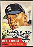 Mickey Mantle 1953 Topps Baseball Auto REPRINT Card New York Yankees - Baseball Card