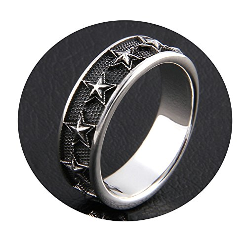 Aooaz Jewelry Made Silver Men's Ring Ring Multi Star Pentagram Star Silver Punk Fashion Jewelry