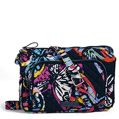 Vera Bradley Iconic RFID Little Hipster, Signature Cotton, Butterfly Flutt