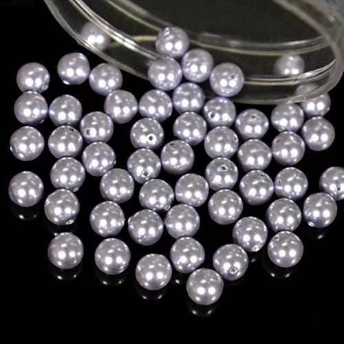 Swarovski Crystal Pearls Beads for Jewellery,Craft and Embroidery Making Purpose(25 Pieces, Lavender Color, 3 ()