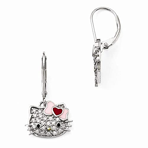 9866d8fd5 Amazon.com: Jewels By Lux Hello Kitty 925 Sterling Silver Swarovski ...