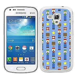 Funda carcasa para Samsung Galaxy S DUOS 2 diseño estampado mario cuadrado borde blanco