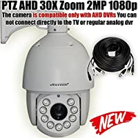 VENTECH PROFESSIONAL PTZ Camera AHD Security Camera 30X Zoom 2MP 1080P(1920X1080) 9 Array Leds Night Vision RS-485 6inch Pan Tilt Zoom Surveillance Camera