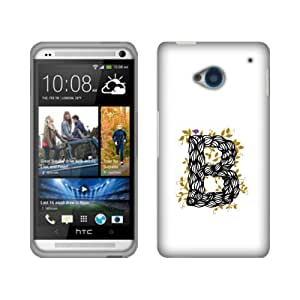 Fincibo (TM) Protector Cover Case Snap On Hard Plastic Front And Back For HTC One M7 - B Character