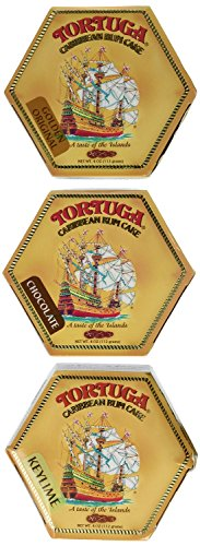 Tortuga Rum Cake, Pick your flavors, 4-Ounce Cake 3 Pack Mix. From (Golden Rum)