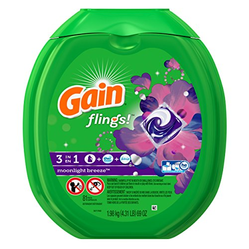 Gain Flings Original Laundry Detergent Pacs (Gain Flings Original Laundry Pacs 72 Count)