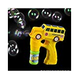 Bargain World 5'' Light And Sound School Bus Bubble Blaster (With Sticky Notes)
