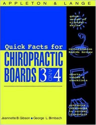 Appleton & Lange's Review For The Chiropractic Boards 3-4
