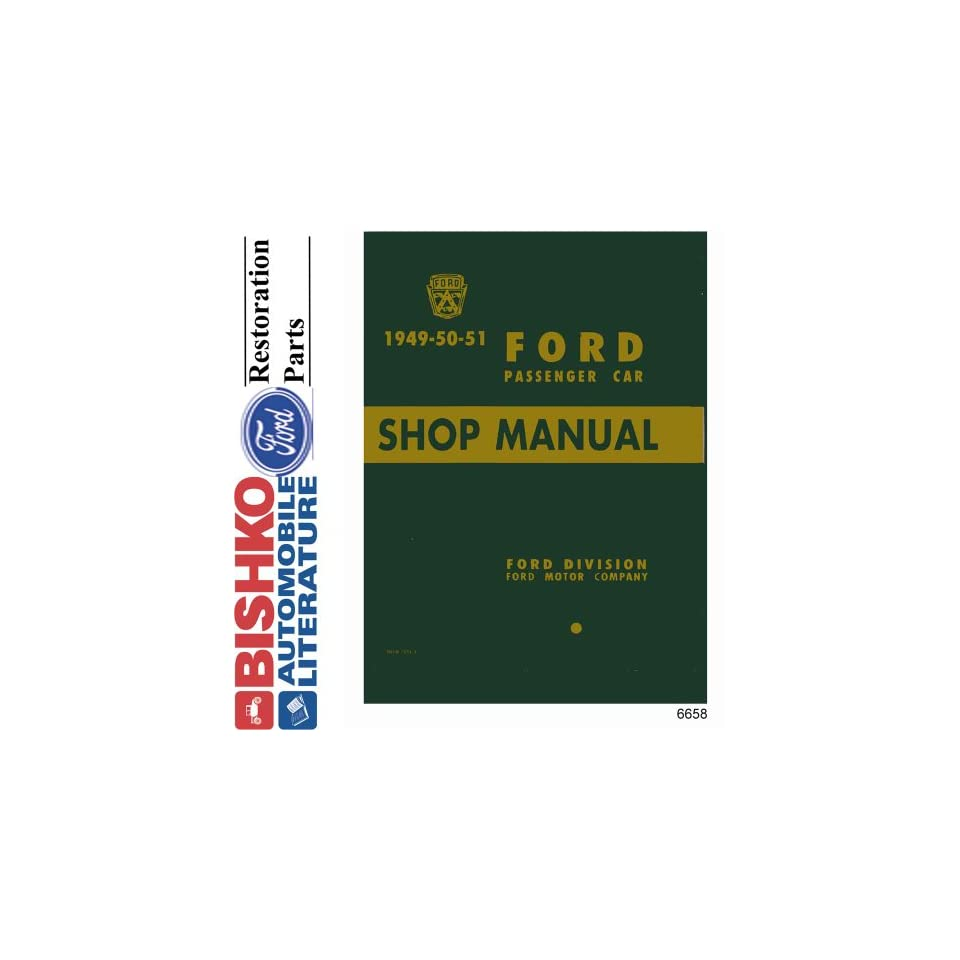 1949 1950 1951 FORD Car Shop Service Manual Book CD