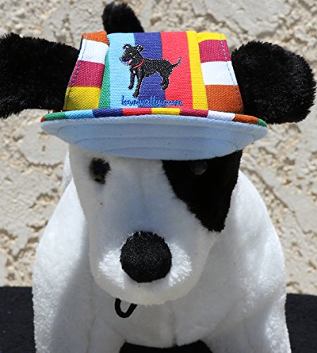 LoveWally Dog Outdoor PET Hat Rainbow ♦ Adjustable Authentic (Large) by LoveWally (Image #4)