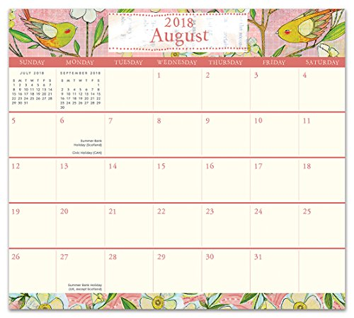 Orange Circle Studio 2019 Magnetic Monthly Calendar Pad, August 2018 - December 2019, Where Love Grows