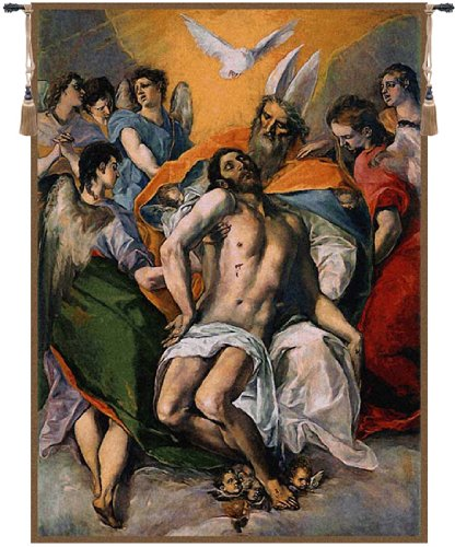 Greco Tapestry (Tapestry, Extra Large, Tall - Elegant, Fine & Wall Hanging - Trinidad, El Greco, H142xW103)