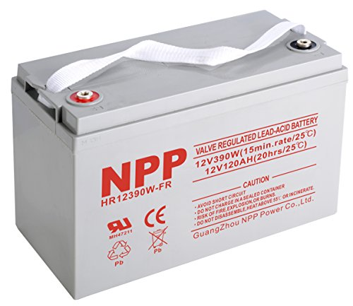 NPP HR12390W FR 12V 390W 12Volt 120Amp High Rate Rechargeable Sealed Lead Acid AGM UPS Battery