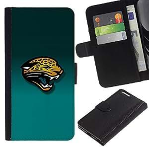 NEECELL GIFT forCITY // Billetera de cuero Caso Cubierta de protección Carcasa / Leather Wallet Case for Apple Iphone 6 PLUS 5.5 // Tiger Panther