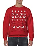 SpiritForged Apparel Feliz Navi DAD Ugly Christmas Crewneck Sweater,...