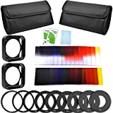 24pcs Square Full Colors ND2/ND4/ND8/ND16 Filters + Graduated G.ND2/ND4/ND8 Filter Set + 9 Size Adapter Ring (49/52/55/58/62/67/72/77/82MM)+ 2x Filter Holder + 2x Lens Hood + 2x Filter Case