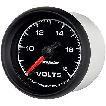 Auto Meter 5992 ES 2-1//16 8-18V Short Sweep Electric Voltmeter