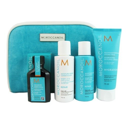 Moroccanoil Travel Kit, 5 Count (Moroccan Oil Kits For Hair)