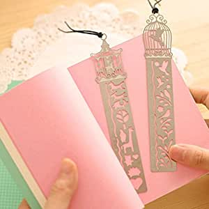 MONOMONO-2Pcs Fairy Tale Ultra-thin Hollow Rulers Metal Tale World Bookmark