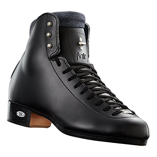 Riedell 91 Flair - Girls Figure Skate Boot Only (Wide, Size 3 Black)