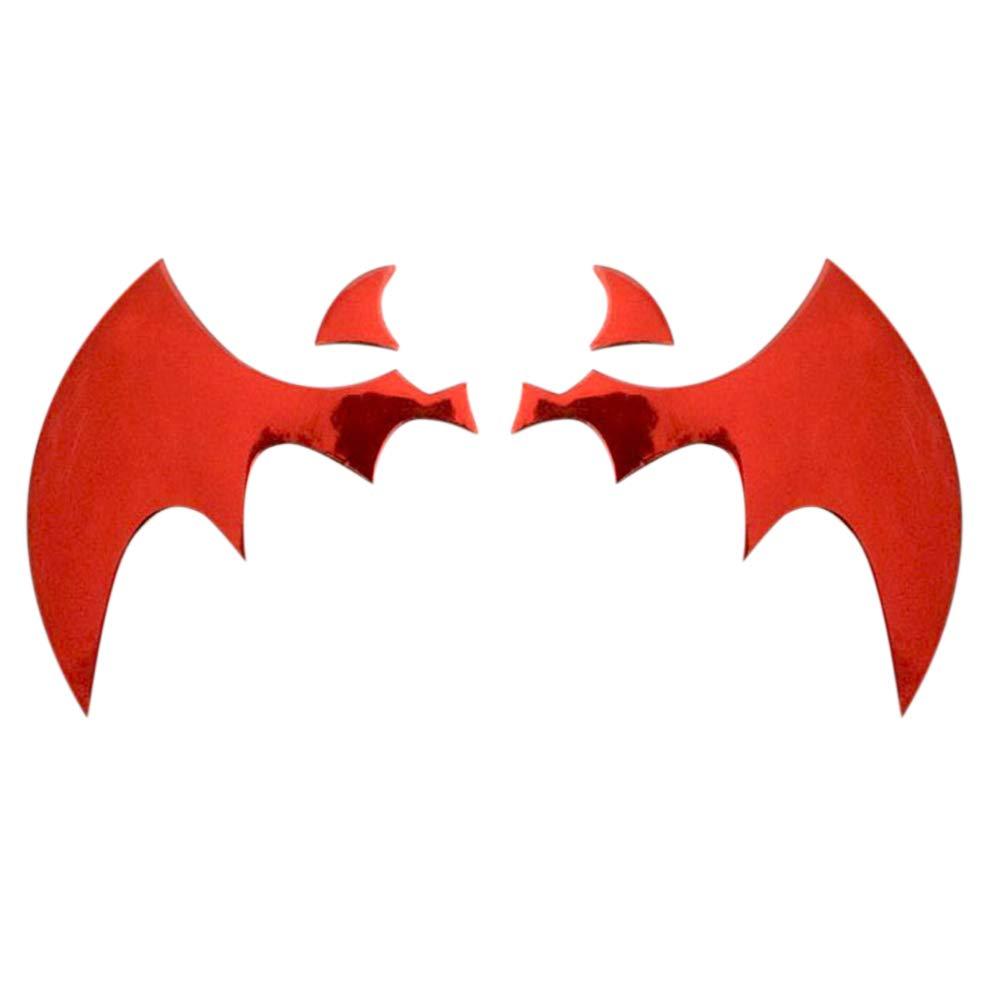 Delleu Autocollants universels 3D Batman Autocollants en Chrome métal