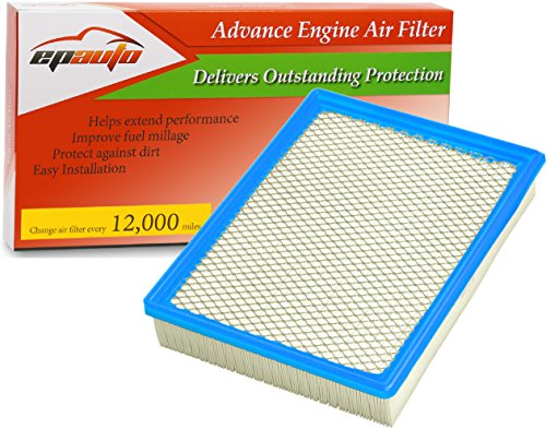 Engine Yukon Gmc (EPAuto GP755 (CA8755A) Cadillac / Chevrolet / GMC Replacement Extra Guard Rigid Panel Engine Air Filter for Silverado(1999-2017),Suburban(2000-2017),Tahoe(2000-2017),Sierra(1999-2017),Yukon(2000-2017))