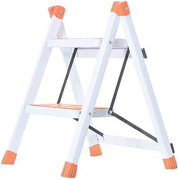 TLTLTD Escalera Plegable Para El Hogar, Escalera Metálica De Dos Pasos, Escalera En Espiga, Taburete De Cocina Con Pedestal, Pedal Para Escalera (color : Naranja): Amazon.es: Bricolaje y herramientas