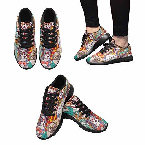 D-story Jogging Running Sneaker Dog Con Scarpe Da Ginnastica Casual Da Donna Casual In Vetro Nero