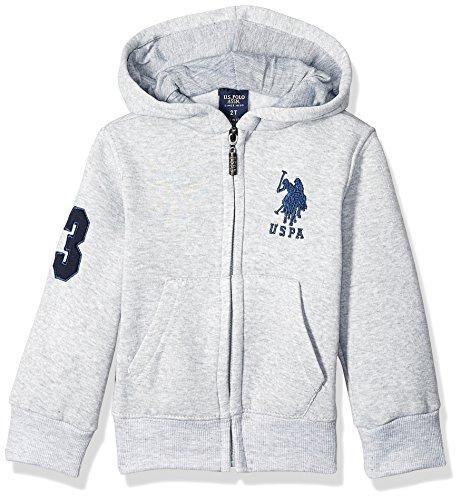 U.S. Polo Assn. Boys Big Long Sleeve Zip Up Fleece Hoodie