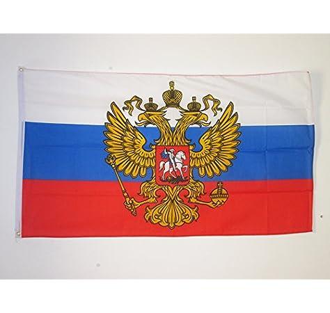 AZ FLAG Bandera de Rusia con Aguila 90x60cm - Bandera Rusa con ...