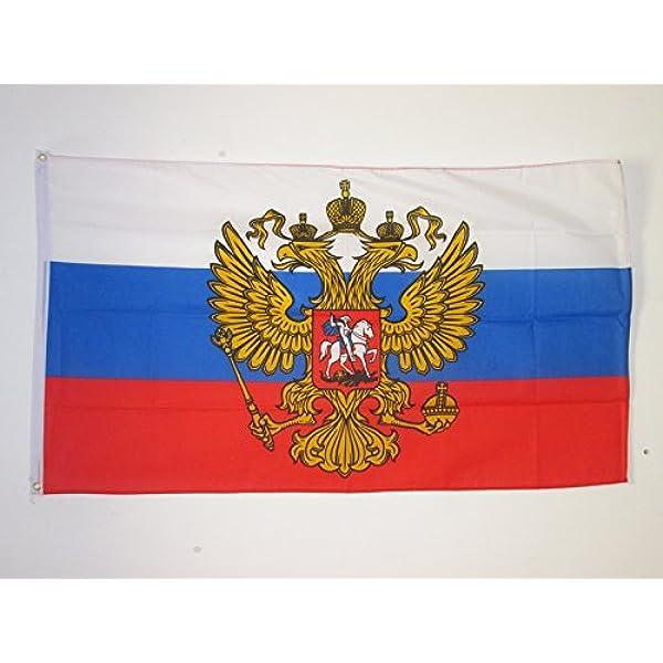 AZ FLAG Bandera de Rusia con Aguila 90x60cm - Bandera Rusa con Armas 60 x 90 cm: Amazon.es: Hogar