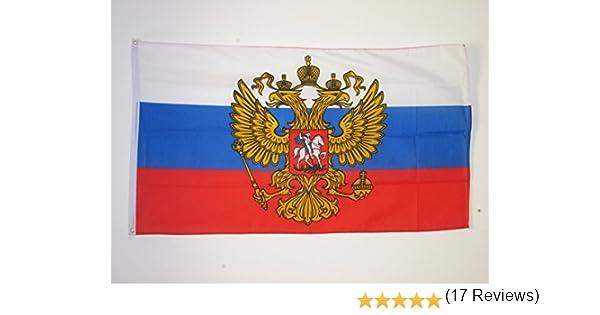 AZ FLAG Bandera de Rusia con Aguila 150x90cm - Bandera Rusa con ...