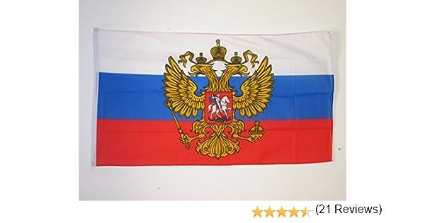 AZ FLAG Bandera de Rusia con Aguila 150x90cm - Bandera Rusa con Armas 90 x 150 cm: Amazon.es: Hogar