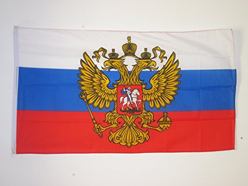 AZ FLAG Russia with Eagle Flag 2' x 3' - Russian Coat of arms Flags 60 x 90 cm - Banner 2x3 ft