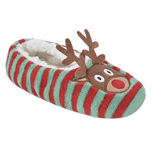 Slumberzzz Dames Rendieren En Pinguïn Kerst Ballet Slippers Rendieren