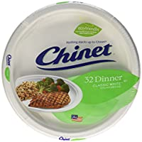 Chinet Classic White Platos, Value Pack, 32 ct