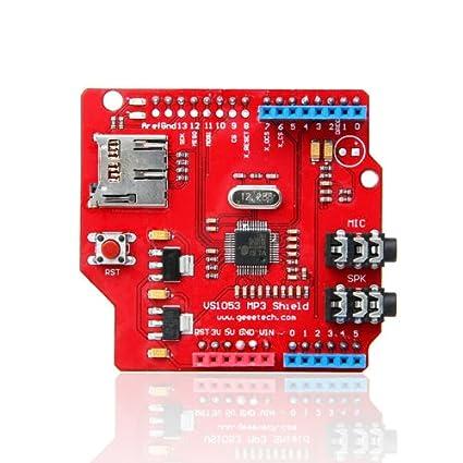 Geeetech VS1053 shield board MP3 Music shield with TF card slot work with  arduino/Iduino
